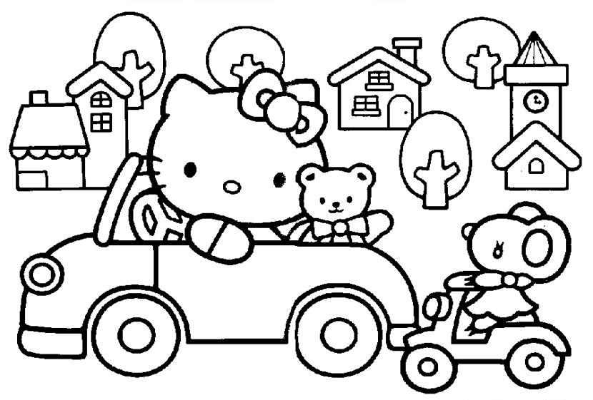 Aprende a pintar con los Dibujos para colorear de Hello Kitty ...